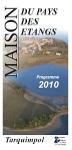 Programme 2010 Maison du Pays des Etangs